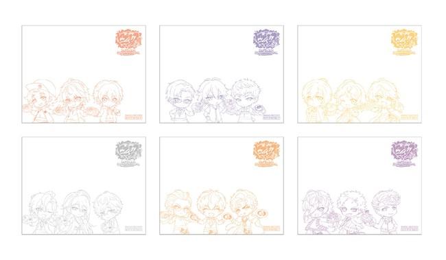 ヒプノシスマイク×SHIBUYA109 in MOG MOG STANDノベルティ:付箋デザインイメージ
