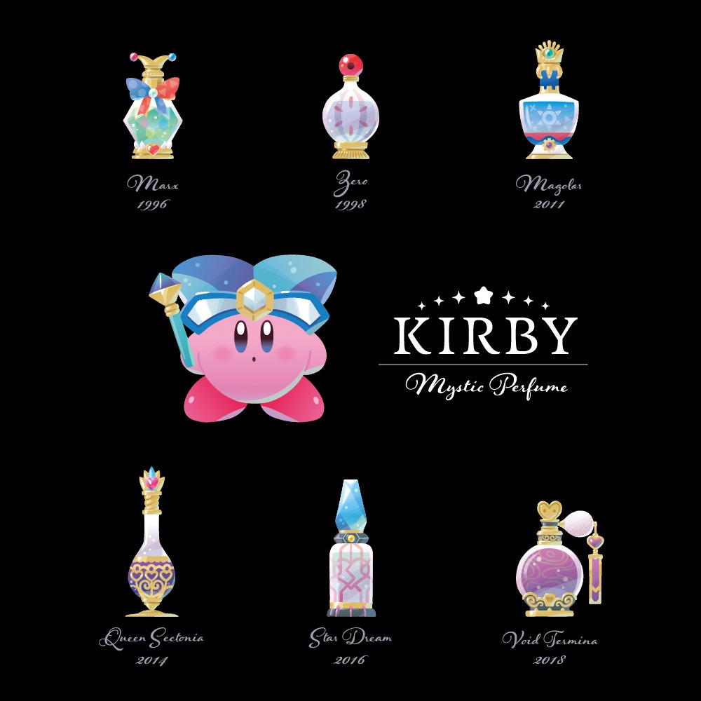 「星のカービィ」悪役たちを魅惑的な香水瓶にリデザイン!新シリーズ「KIRBY Mystic Perfume」が登場