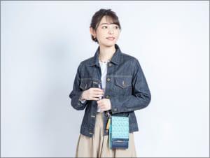 「刀剣乱舞-ONLINE-」×日本の織物 スマホポシェット 一期一振モデル 使用イメージ