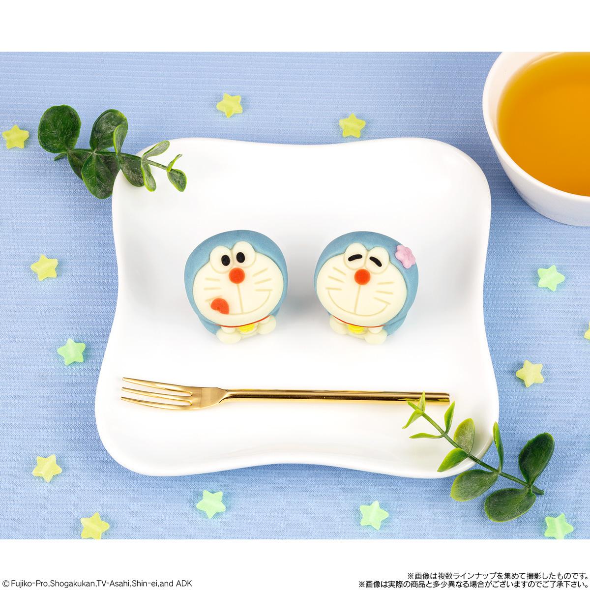 「ドラえもん」がキャラクター和菓子「食べマス」に登場!舌ぺろおちゃめ顔&桜を頭に乗せたのんびり顔が展開