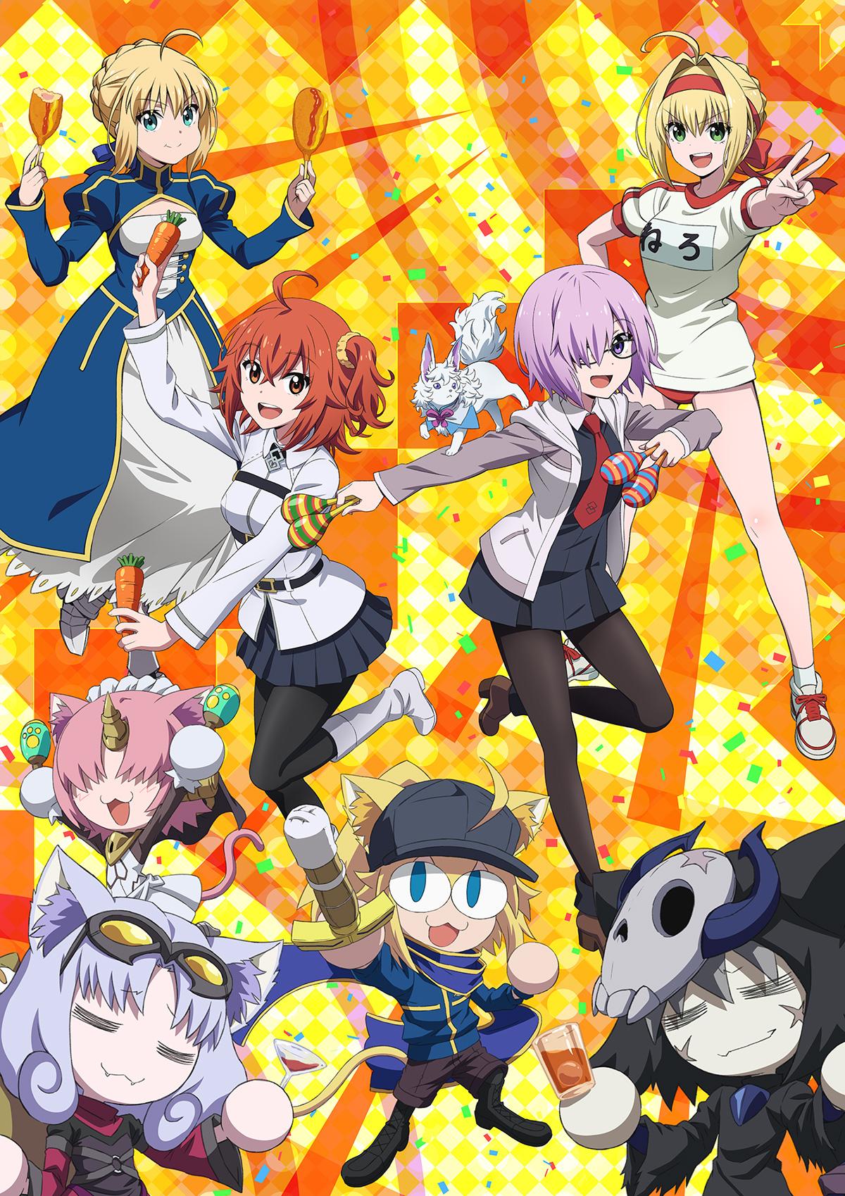 "OVA「Fate/Grand Carnival」アルトリア&ネロが新登場し""お祭り騒ぎ""が盛り上がっていく最新ビジュアル解禁!店舗購入特典情報も更新"