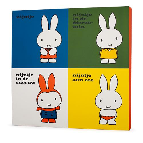 「誕生65周年記念 ミッフィー展」展覧会オリジナルグッズ「初期4作品のフィギュアセット。展覧会オリジナルBOX」