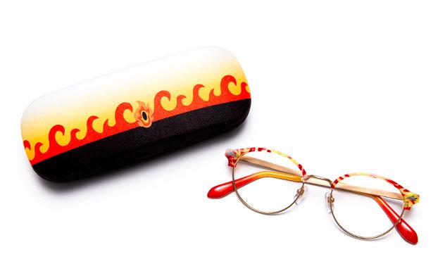 「鬼滅の刃」キャラクターメガネコレクション煉獄杏寿郎モデルケース+メガネ