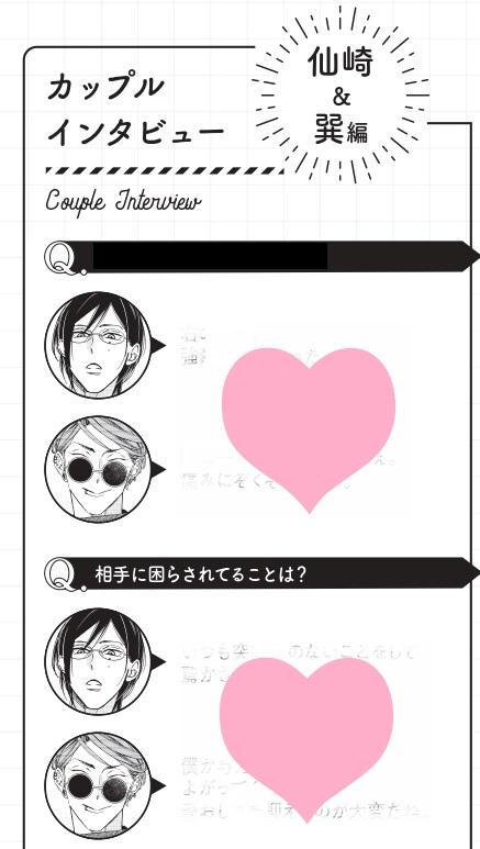 「緒川千世ファンブック ーflowー」ちら見せその① カップルインタビュー