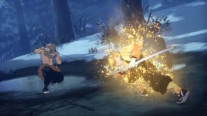 「鬼滅の刃 ヒノカミ血風譚」ゲーム内スクリーンショット 善逸V S伊之助