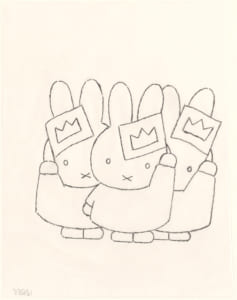 「誕生65周年記念 ミッフィー展」『うさこちゃんは じょおうさま』スケッチ 2006年