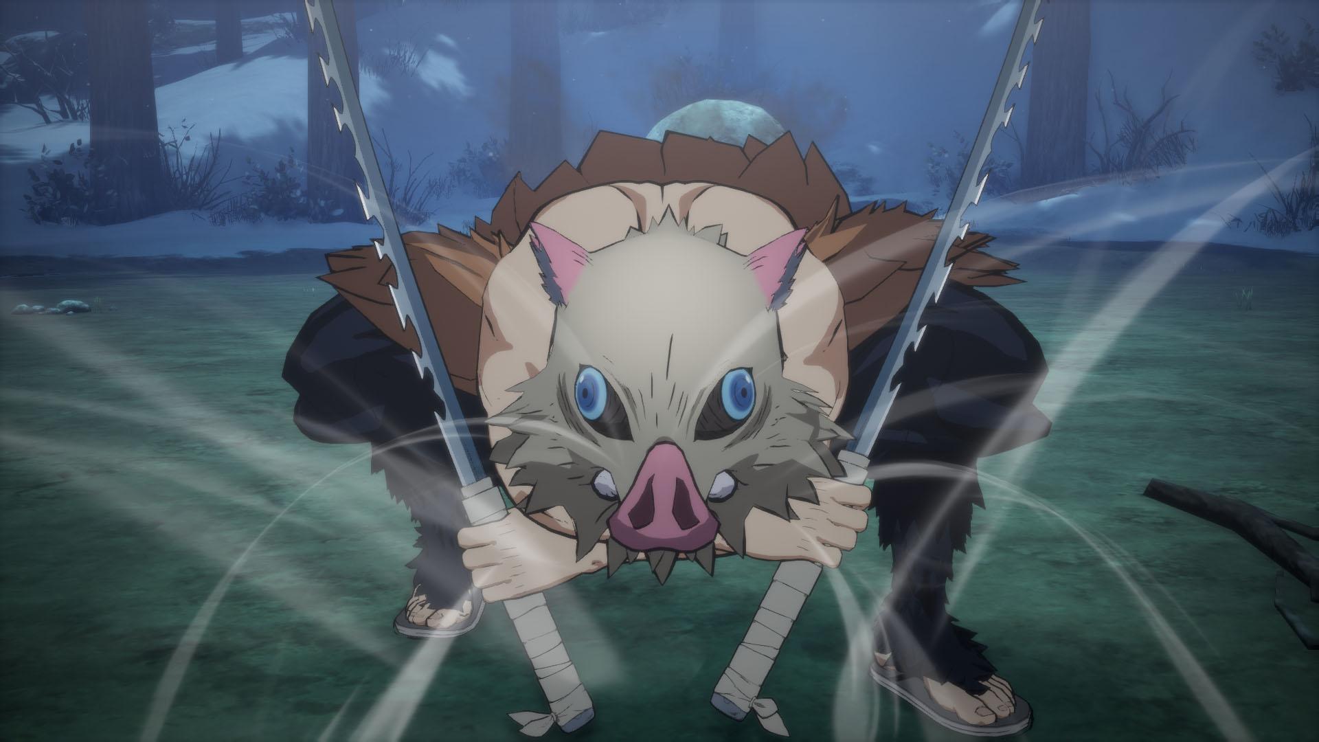「鬼滅の刃 ヒノカミ血風譚」ゲーム内スクリーンショット 伊之助 獣の呼吸