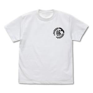 藤の花の家紋 Tシャツ 白 フロント