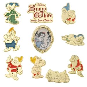 白雪姫&7人のこびと ピンバッジ セット Snow White and the Seven Dwarfs