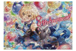 「クイズRPG 魔法使いと黒猫のウィズ」8周年記念 モザイクアート