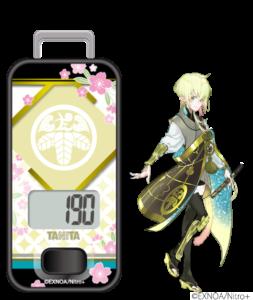 「刀剣乱舞」×「タニタ」歩数計 太閤左文字