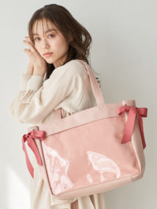 Japan Label オリジナル クリアデコバッグ Bonbons 使用イメージ ピンク