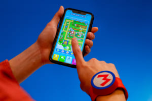 「スーパー・ニンテンドー・ワールド」パワーアップバンド アプリ画面イメージ