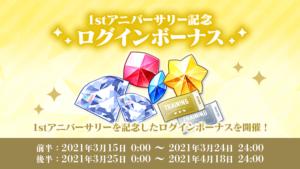「あんさんぶるスターズ!!」1stアニバーサリー記念ログインボーナス(Basic/Music)