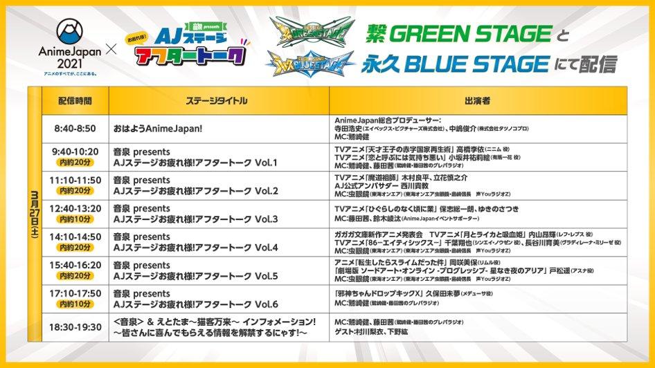 「AnimeJapan2021」音泉presentsAJステージお疲れ様!アフタートーク一覧