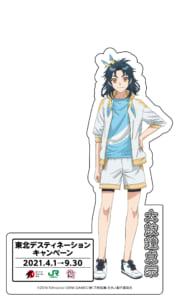 「東北デスティネーション」×アニメ続「刀剣乱舞-花丸-」等身大パネル 太鼓鐘貞宗