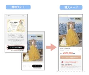 「PLACOLE」×「ONE PIECE」コラボウェディングドレス購入方法