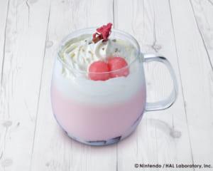 Kirby Café (カービィカフェ)」春のまんまるピクニックフェア 春うらら♪ぽかぽかさくらラテ