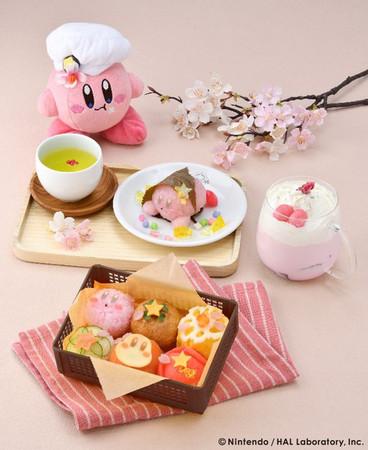"""「カービィカフェ」さくら色でいっぱいの華やかなメニューが楽しめる""""春のまんまるピクニックフェア""""開催!"""