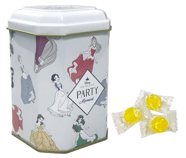 「ディズニープリンセス パーティーモーメント」キャンディ缶 990円