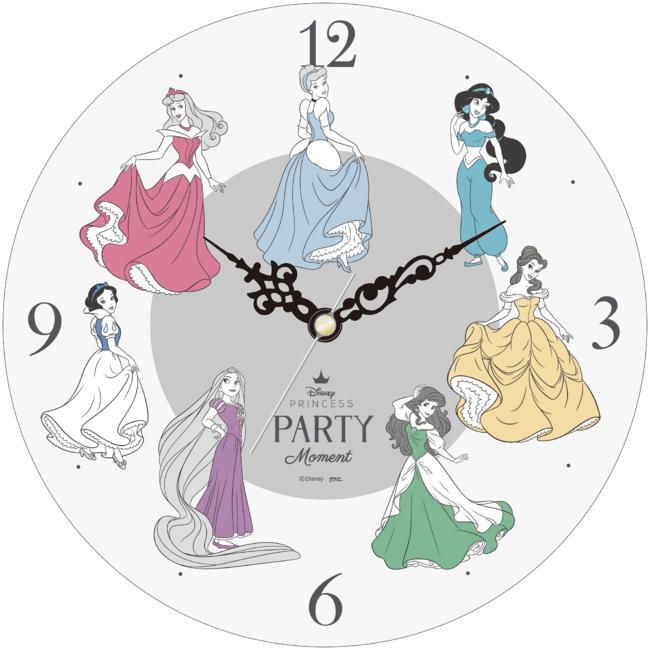 「ディズニープリンセス パーティーモーメント」アクリル時計 6,050円