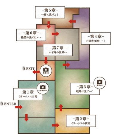 体験ミュージアム『約束のネバーランド』 GFハウス脱獄編 会場MAP