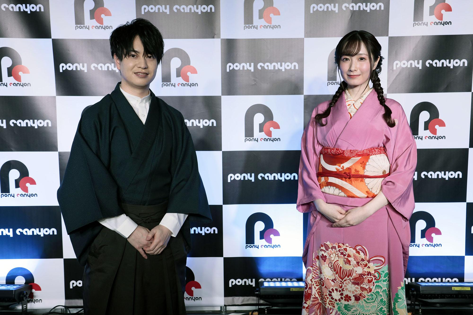 TVアニメ「大正オトメ御伽話」AJステージに登壇した小林裕介さん・会沢紗弥さん