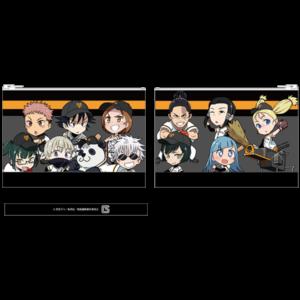 TVアニメ「呪術廻戦」ポップアップショップ 読売ジャイアンツコラボグッズ ちびキャラ 合皮フラットポーチ