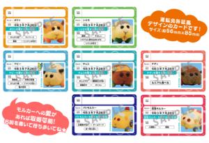 TVアニメ「PUI PUI モルカー」Blu-ray&DVD 店舗別特典:モルカー免許証
