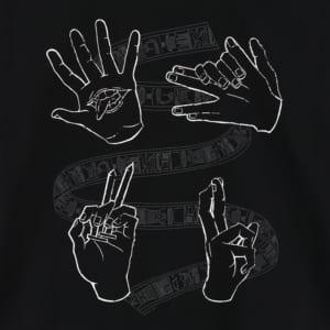 呪術廻戦 ハンドグラフィックTシャツ 黒ver フロントデザイン