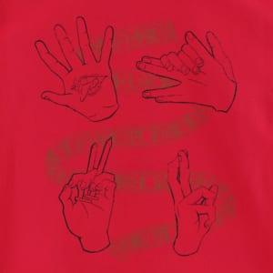 呪術廻戦 ハンドグラフィックTシャツ 赤ver フロントデザイン