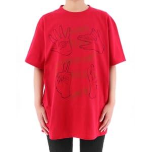 呪術廻戦 ハンドグラフィックTシャツ 赤ver 着用イメージ 正面