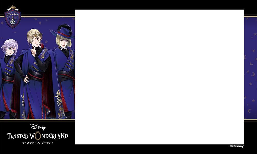 プリ機「EMMYCHUU」×「ディズニー ツイステッドワンダーランド」オリジナルシールふちデザイン第2弾ポムフィオーレ