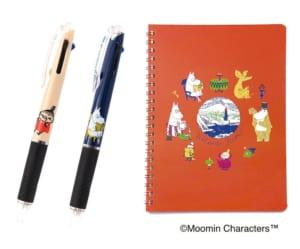 「ムーミンマーケット2021」A5リングノート&ジェットストリーム3色ボールペン