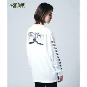 「呪術廻戦」×「glamb」Sukuna long sleeves T 白 着用イメージ・後ろ