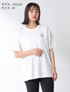 サンリオキャラTシャツ(クロミ・ハンギョドン)モデル着用 ホワイト