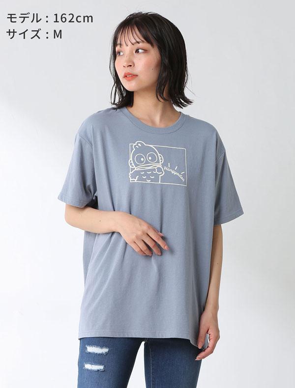 サンリオキャラTシャツ(クロミ・ハンギョドン)モデル着用 ブルー