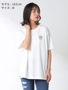 サンリオキャラTシャツ(クロミ・ハンギョドン)モデル着用 オフ×コン
