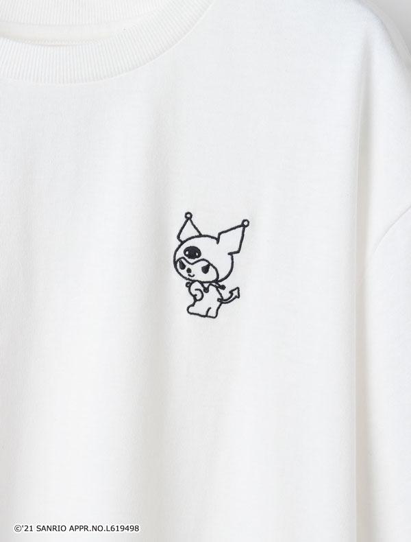 サンリオキャラTシャツ(クロミ・ハンギョドン)ホワイト