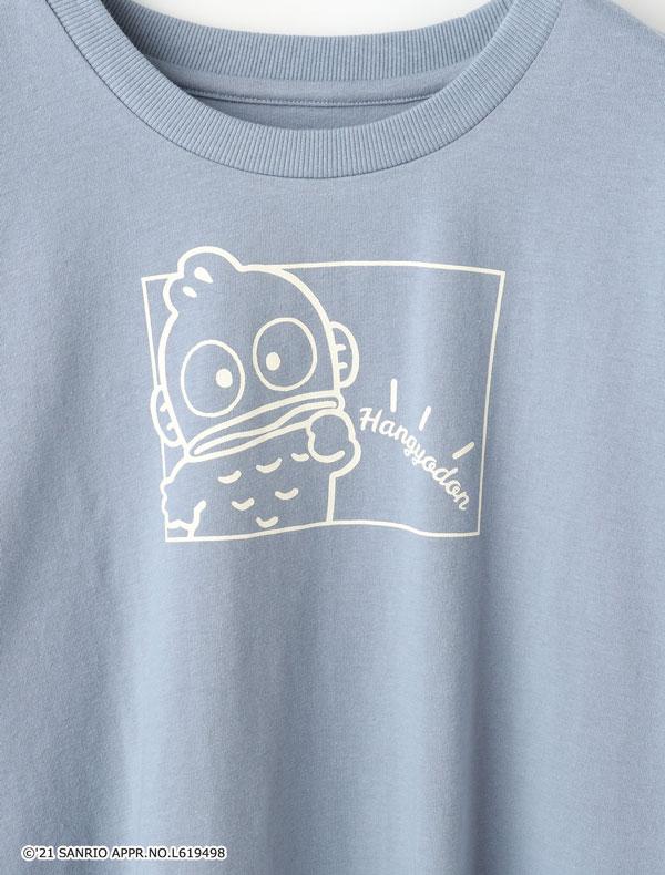 サンリオキャラTシャツ(クロミ・ハンギョドン)ブルー