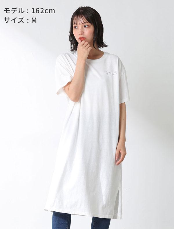 サンリオキャラワンピース モデル着用 ホワイト