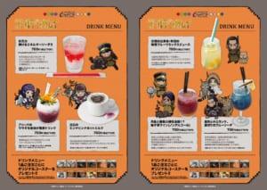 TVアニメ「ゴールデンカムイ」×「あにばーさるカフェ」ドリンクメニュー