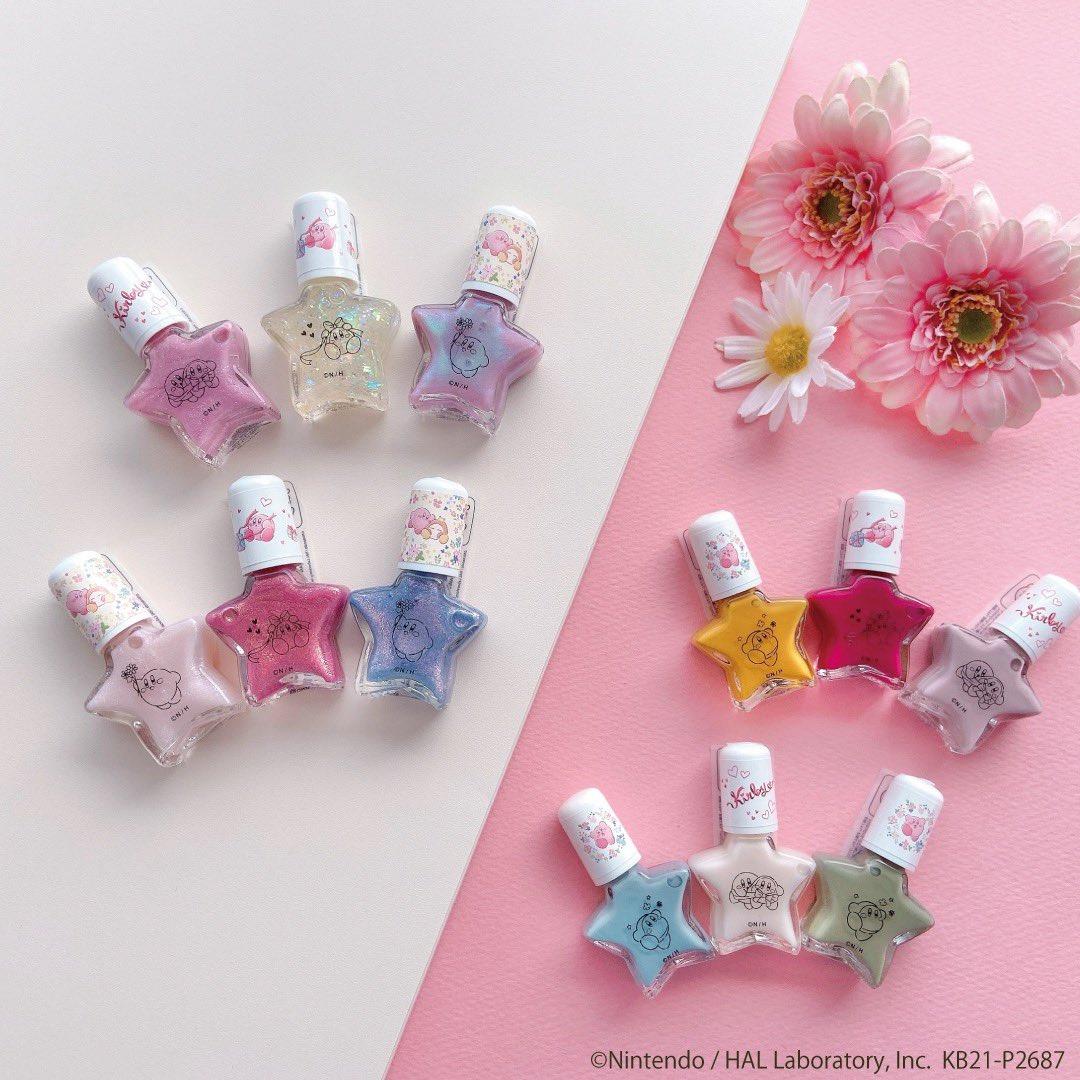 「星のカービィ」×「ITS'DEMO(イッツデモ)」オリジナルデザインネイル全12色が登場!星型の瓶がキュートすぎる