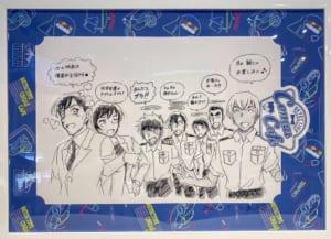 「名探偵コナンカフェ」青山剛昌先生描き下ろしイラスト 警察学校組