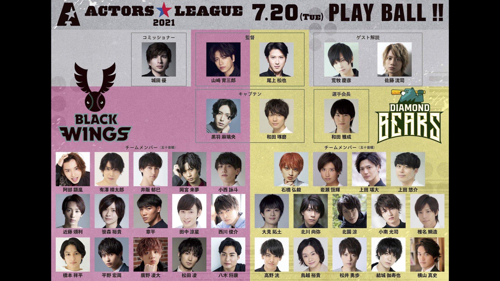 ACTORS☆LEAGUE 2021出演メンバー