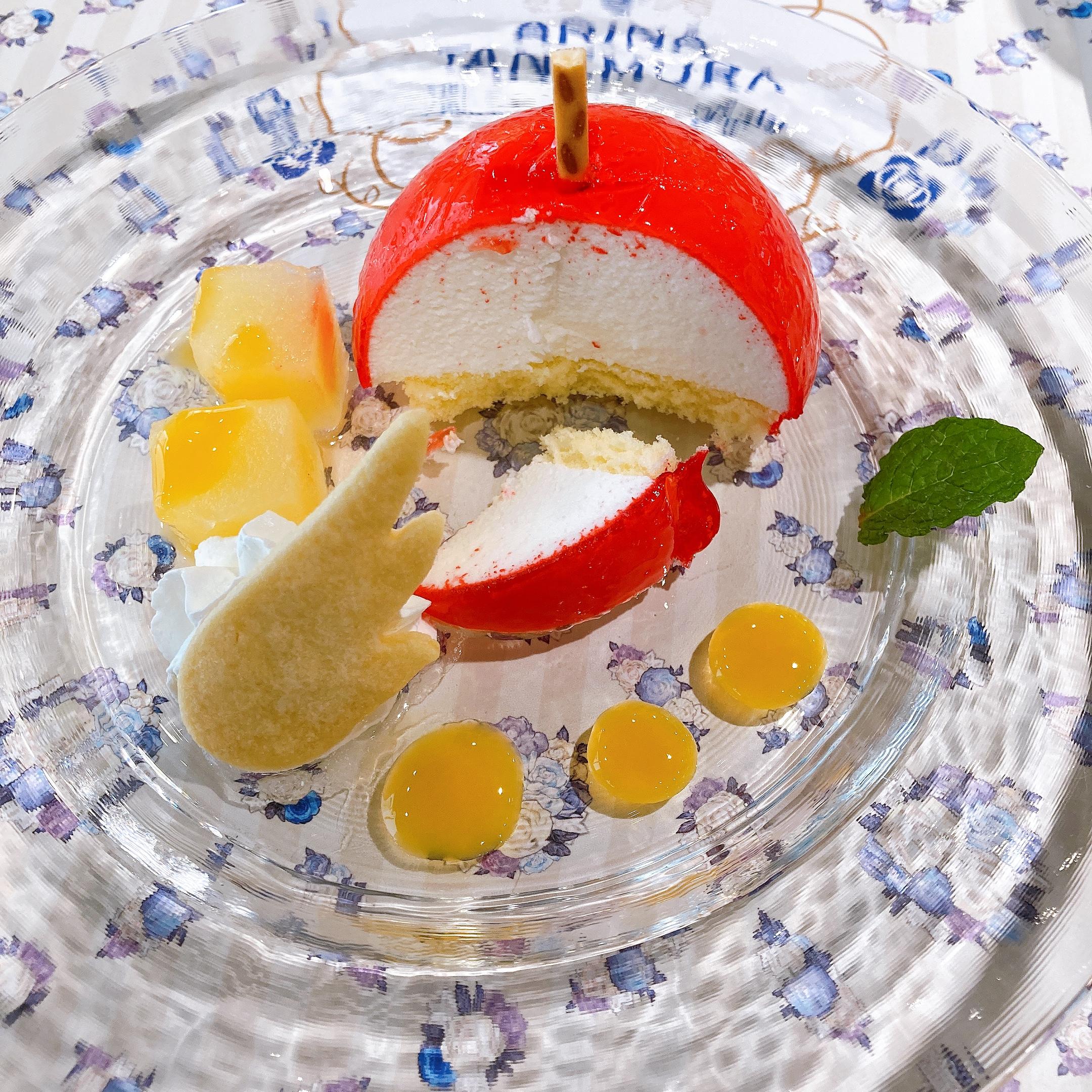 『種村有菜』×アニメイトカフェ「神風怪盗ジャンヌ」天使のペルの実ケーキ切断面