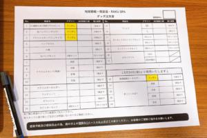 「呪術廻戦」×「極楽湯」グッズ注文用紙