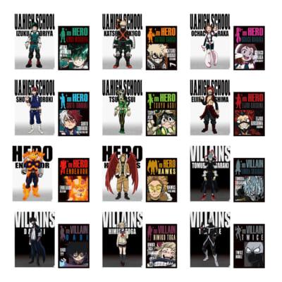 「一番くじ 僕のヒーローアカデミア HERO VS VILLAINS」I賞 クリアファイル・ステッカーセット