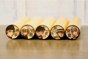 「名探偵コナン はんこコレクション」木彫り