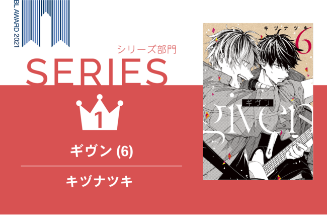 「BLアワード2021」BESTシリーズ1位『ギヴン(6)』キヅナツキ